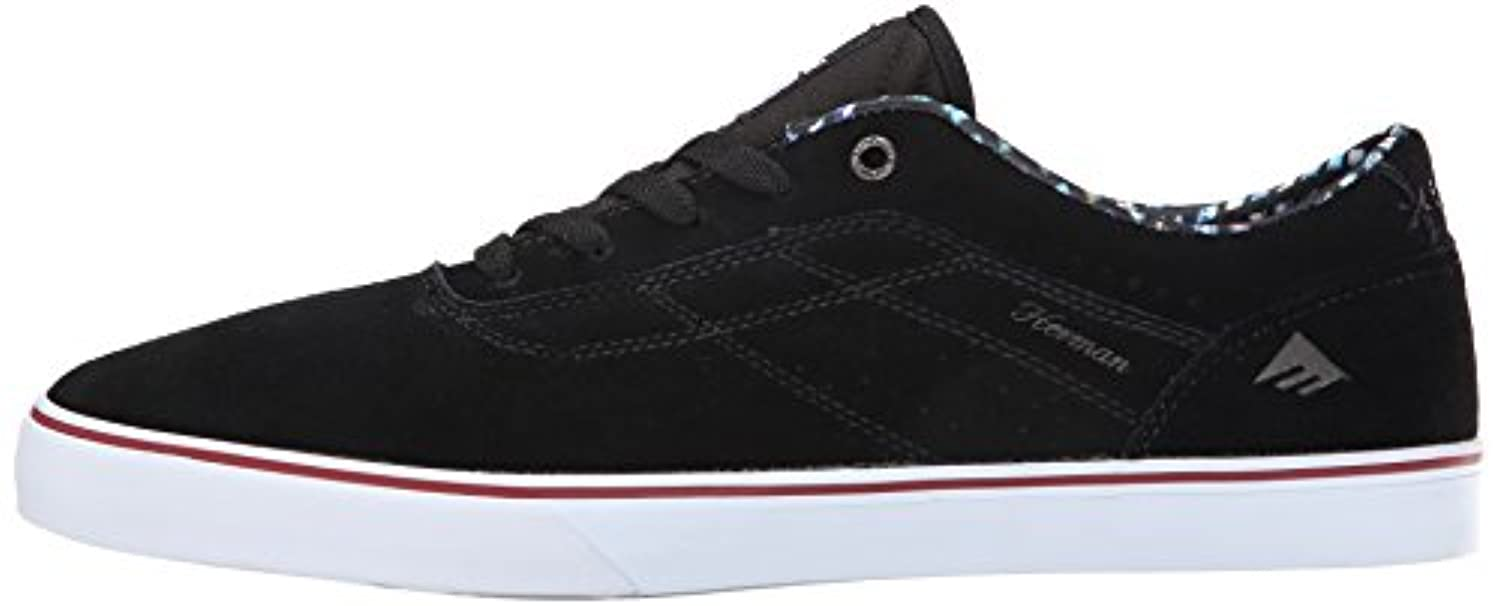 Emerica Men's The Herman G6 Vulc X Skateline Shoe, Black, 11 M US