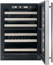 Chateau 44-Bottle Dual Zone Wine Refrigerator Door Frame: Black, Hinge Location: Right