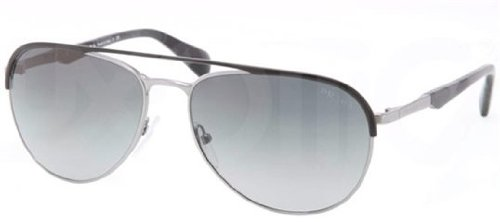 prada Prada 51QS GAQ2D Gunmetal and Black 51QS Aviator Sunglasses Lens Category 3