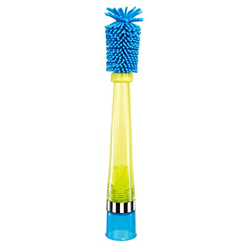 Sassy No Scratch Bottle Brush, Blue/Green