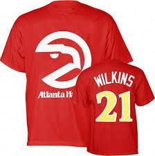 Atlanta Hawks Dominique Wilkins Majestic Throwback T Shirt by VF