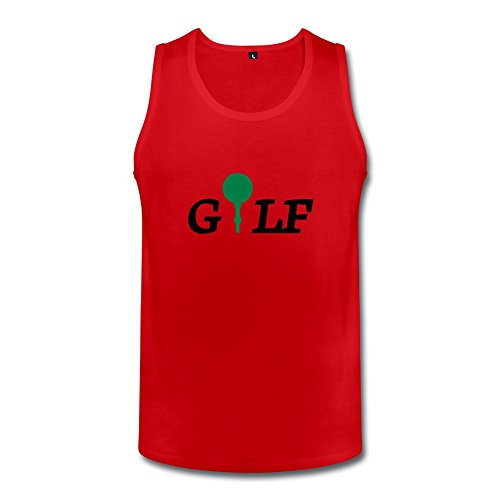 Red Golf Geek Top For Guys Size Xl