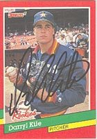 Darryl Kile, Houston Astros, 1991 Donruss Autographed Card