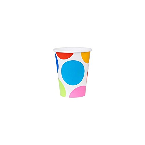 Amscan Unisex Adult Cabana Dots 9 oz. Paper Cups Black Medium