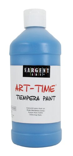 Sargent Art 22-6461 16-Ounce Art Time Tempera, Turquoise - 1