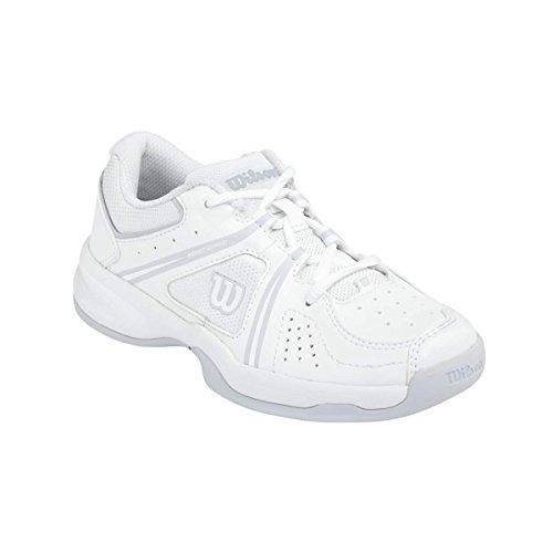 Wilson ENVY JUNIOR, Scarpe da tennis unisex bambino, Multicolore (Mehrfarbig (White / White / Pearl Gray)), 35 1/3