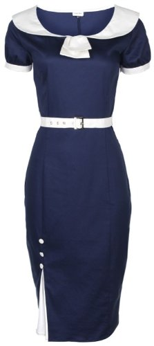 NEW CLASSY BLUE VINTAGE 1950's PINUP PENCIL WIGGLE