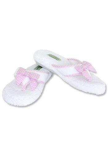 Cheap Patricia Green Jane White & Pink Thong Slipper (B0017LYTSU)