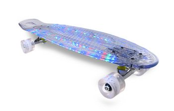 Clear Heavy Duty Led Light Up Skateboard W/Charger