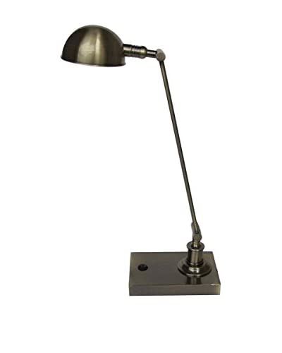 Adesso Adjustable 1-Light LED Desk Lamp, Brass