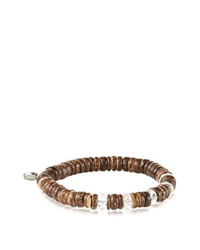 MHart Quartz & Coconut Shell Bead Bracelet
