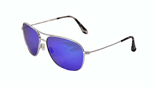 maui-jim-b247-17-silber-cliff-house-aviator-sunglasses-polarised-lens-category-2-lens-mirrored