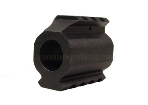 Lowest Prices! .750 5.56/.223 Low Profile Slant Nose Picatiiny Rail Top and Bottom Gas Block