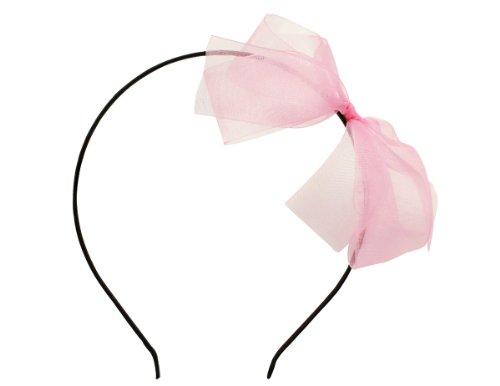 Victoria Cat Flower Girls Baby Pink Wedding Dancing Dress Large Organza Bow Headband Hair Hoop Accessory