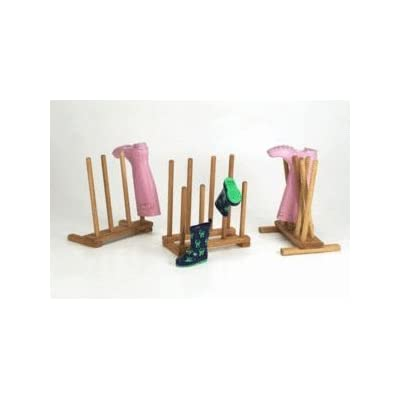 Ingarden Oak Boot Racks - 4 Pair Bootracks