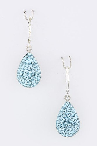Karmas Canvas Crystal Teardrop Dangle Earrings (Turquoise) front-822457
