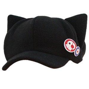 エヴァンゲリオン明日香・帽子 猫耳 帽子 バッジ