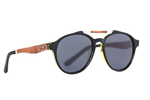 4f4084d393 Proof Eyewear Unisex Chinook Black Eco Wood Handcrafted Water Resistant  Wooden Sunglasses