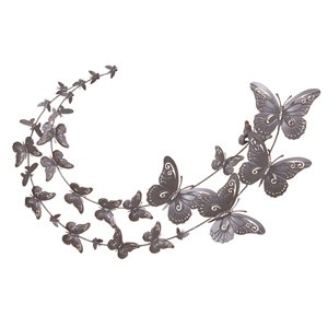 Butterfly Swoosh Metal Butterfly Wall Art Extra Large Kitc