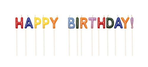 Creative Converting Pick Letter Sets Birthday Cake Candles, Happy Birthday, Assorted - 1