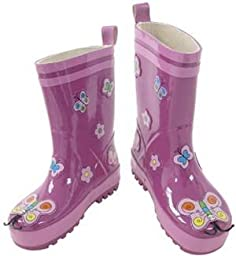 Kidorable Rain Boots for Kids & Toddlers (Size 5T - 2K) - 2K - BUTTERFLY