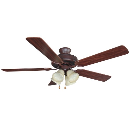 Yosemite Home Decor CALDER-ORB-4 52-Inch Ceiling Fan with Light Kit and Walnut/Wengue Blades, Oil Rubbed Bronze
