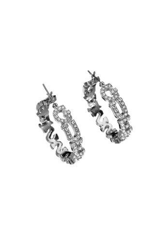 Guess Damen-Creolen Metalllegierung rhodiniert - UBE81152 thumbnail