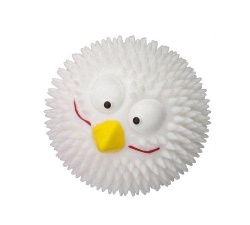 Palla profumata Rubber Lucky Bird - Gioco sonoro per cane, in gomma resistente, in più profumazioni e colori (Vaniglia (bianco))