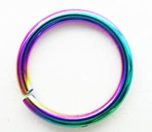 Body Jewelry - Titanium Rainbow Eyebrow Ring (18g) - Eyebrow Jewelry (1 pc)