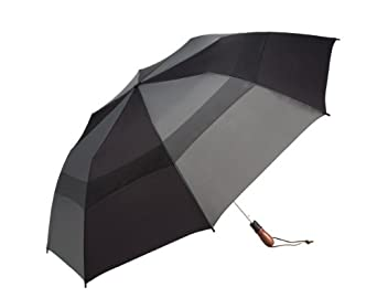 WindJammer by ShedRain 2044A-B/CH Black/Charcoal 58-Inch Arc Vented Auto Open Jumbo Umbrella
