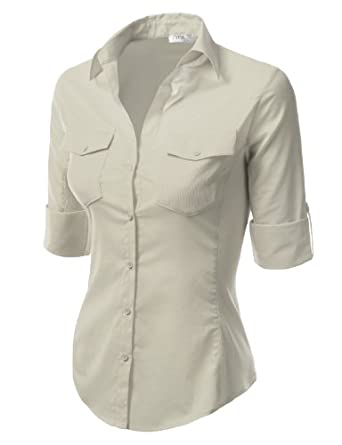 Hollywood Star Fashion Sleeveless Stretch Shirt with Mesh V Back Top wth Ribbed Sides
