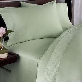 Rayon From Bamboo4 (Four) Piece Luxurious 1200 Thread Count Cal King Size Goose Down Comforter Set, Sage SolidColor, 1200 Tc - 750Fp - 50Oz. front-1025070