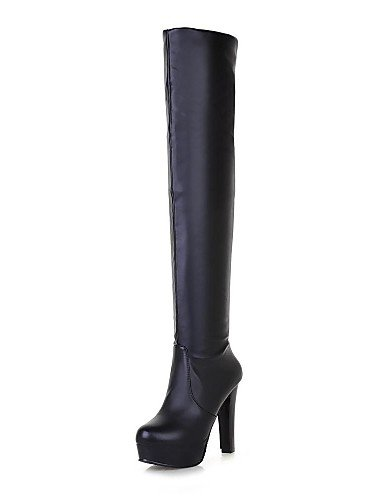 Gll&Xuezi stivali moda scarpe da donna tacco grosso sopra lo stivale al ginocchio più colori disponibili , black-us7.5 / eu38 / uk5.5 / cn38 , black-us7.5 / eu38 / uk5.5 / cn38