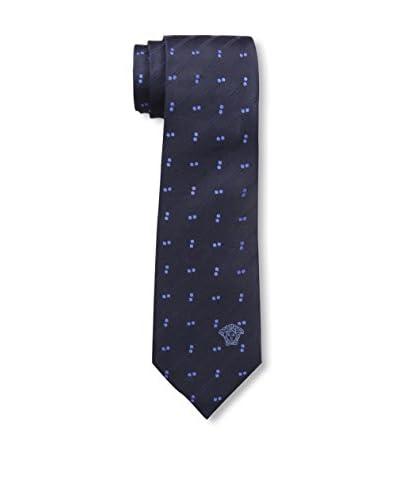 Versace Men's Silk Tie, Periwinkle Dot