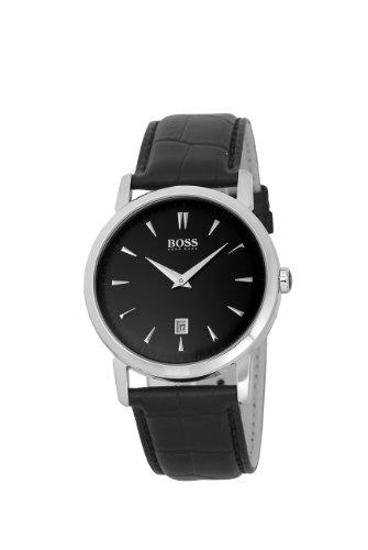 Hugo Boss 1512637 - Reloj analógico de cuarzo para hombre con correa de piel, color negro