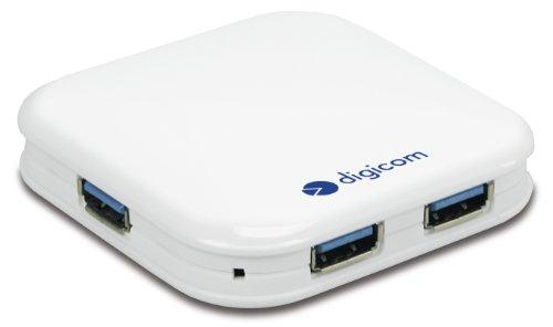 Digicom 8E4521 HUB USB 3.0 4 Porte Alimentato