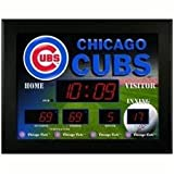 Chicago Cubs LED Scoreboard Clock and Thermometer