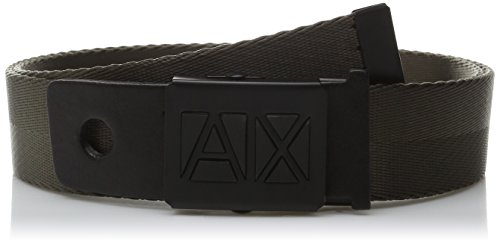 Armani Exchange Men's Core Logo Belt, Fatigue, Medium (Belts Men Armani compare prices)