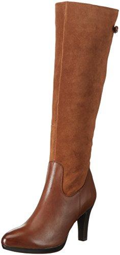 Caprice 25529 - Stivali Alti da Donna, colore Marrone (COGNAC COMB 315), taglia 38.5 EU
