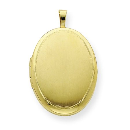 Genuine .925 Gold Plated Sterling Silver 20mm Satin Fancy Oval Locket. 100% Satisfaction Guaranteed.