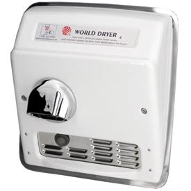 World Dryer Auto Recessed Hand Dryer - 115v, Cast Iron world folktales