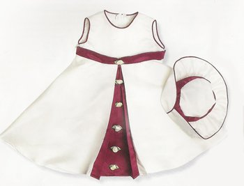 Girl's Ivory Sharon Dress and Hat 3 mths - 6 Years