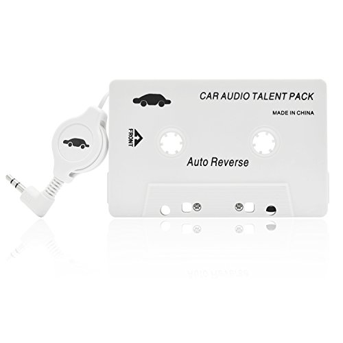 iProtect Audio Auto-Adapter-Cassette perr Smartphone iPod MP3 CD Player in bianco