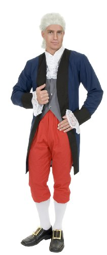 [CH02078 (Lg) Colonial Benjamin Franklin Costume] (British Colonial Soldier Costume)
