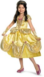 Beauty and the Beast - Toddler Costume: Belle Lame Deluxe- 3T/4T