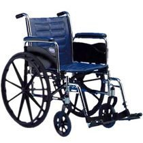 "Invacare LightWeight Tracer EX2 Wheelchair 20"" with Swingaway Footrest-Blue (Folding, Assembled)"
