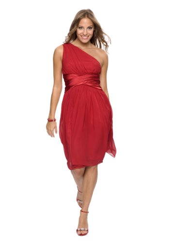 Ssses Abendkleid im Toga Stil, Farbe rot, Gr.32 von Astrapahl