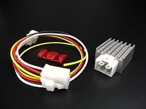 ミニモト(MINIMOTO) 6V シリコンレクチファイヤーからレギュレーター 6Vモンキー