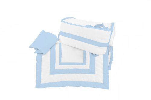 Baby Doll Modern Hotel Style Port-a-Crib Bedding Set, Blue