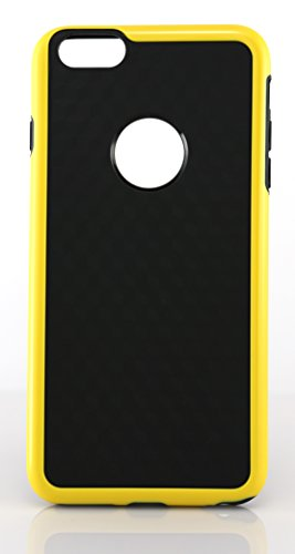 iPhone 6 Plus Case - TPU - NON-SLIP MATERIAL - Combo Armor Protection - NEW iPhone 6 Plus (5.5 Inch) (Yellow)